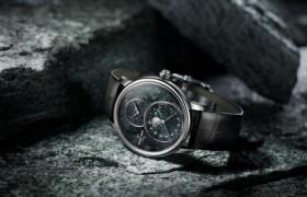 雅克德罗瑞士特别版月相大秒针腕表 融合精美矿石与浪漫月相的精品杰作